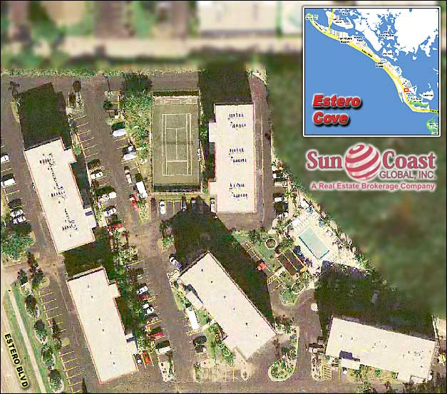 Estero Cove Overhead Map